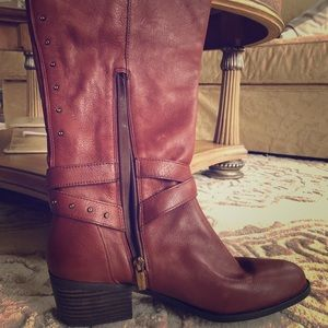 Rustic wide calf boot by Vince Camuto